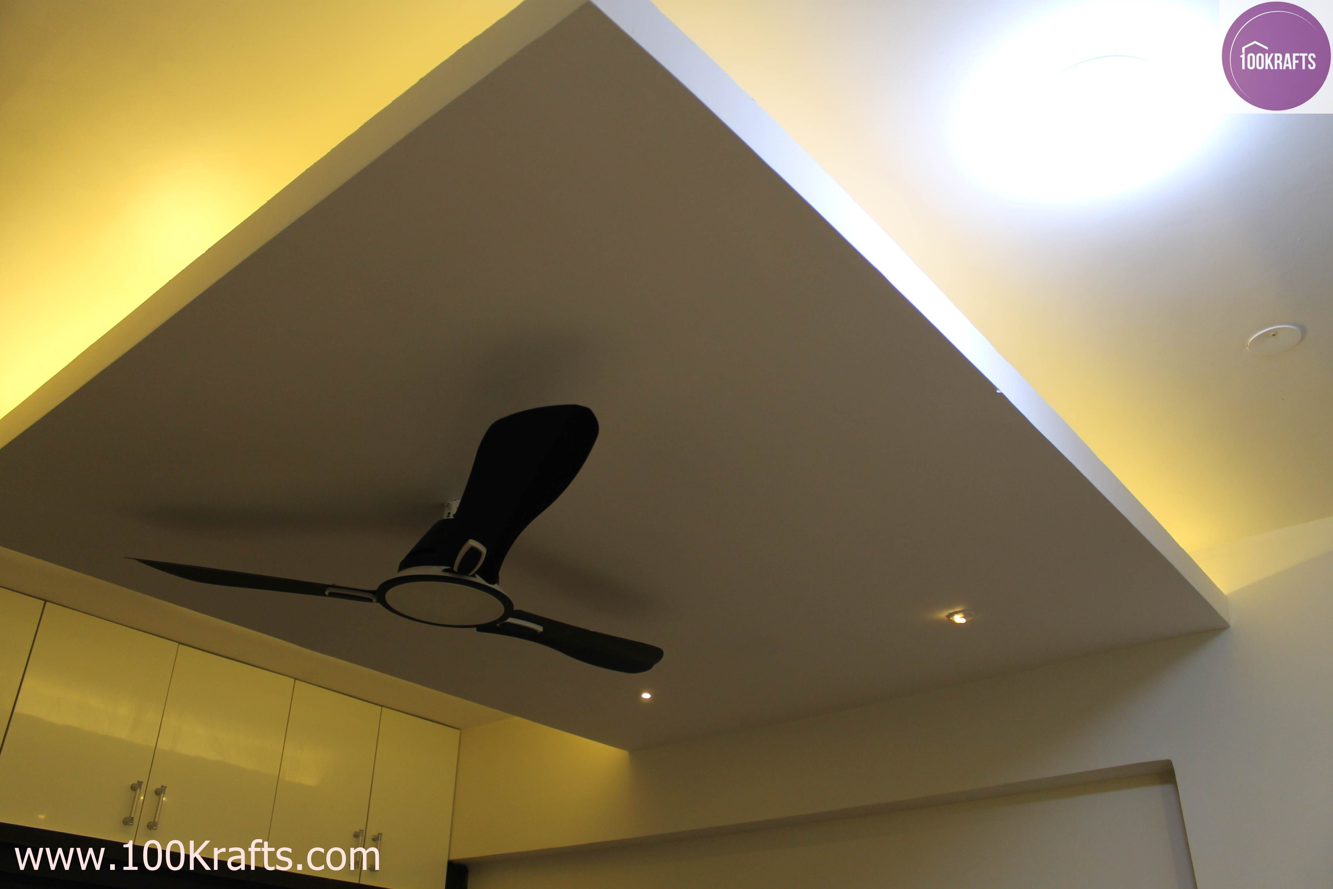 Attached To The Wall At One Side This Ceiling Is A Simple Design For Creating Exactly Above The Bed False Ceiling Design Ceiling Design False Ceiling