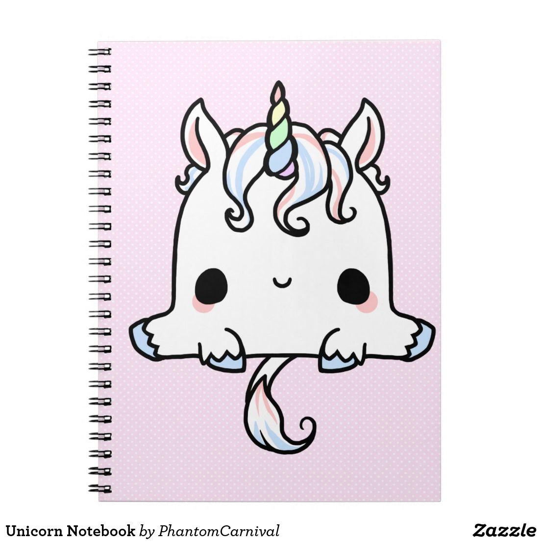 Unicorn Notebook Zazzle Com Kawaii Unicorn Kawaii Notebook