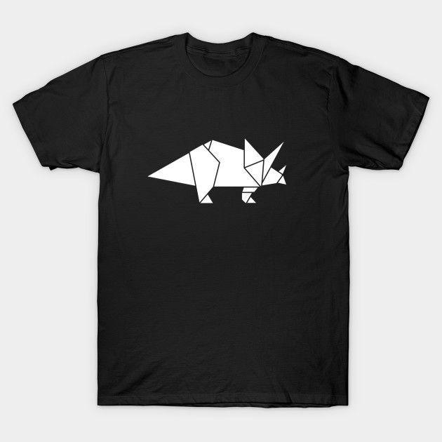 Prehistoric Origami - Triceratops - Mens T-Shirt