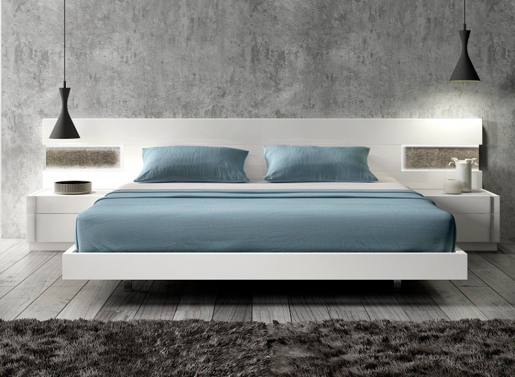 Anadia - Contemporary Queen Size #Bed in White | Dormitorios ...