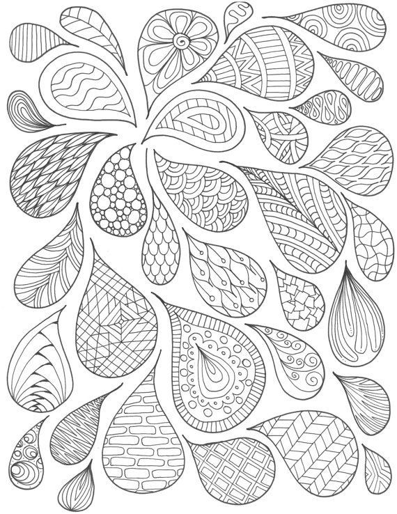 Items Similar To Pattern Drops Coloring Page On Etsy Fifty Paisley Malvorlagen Muster Malen Muster Malerei
