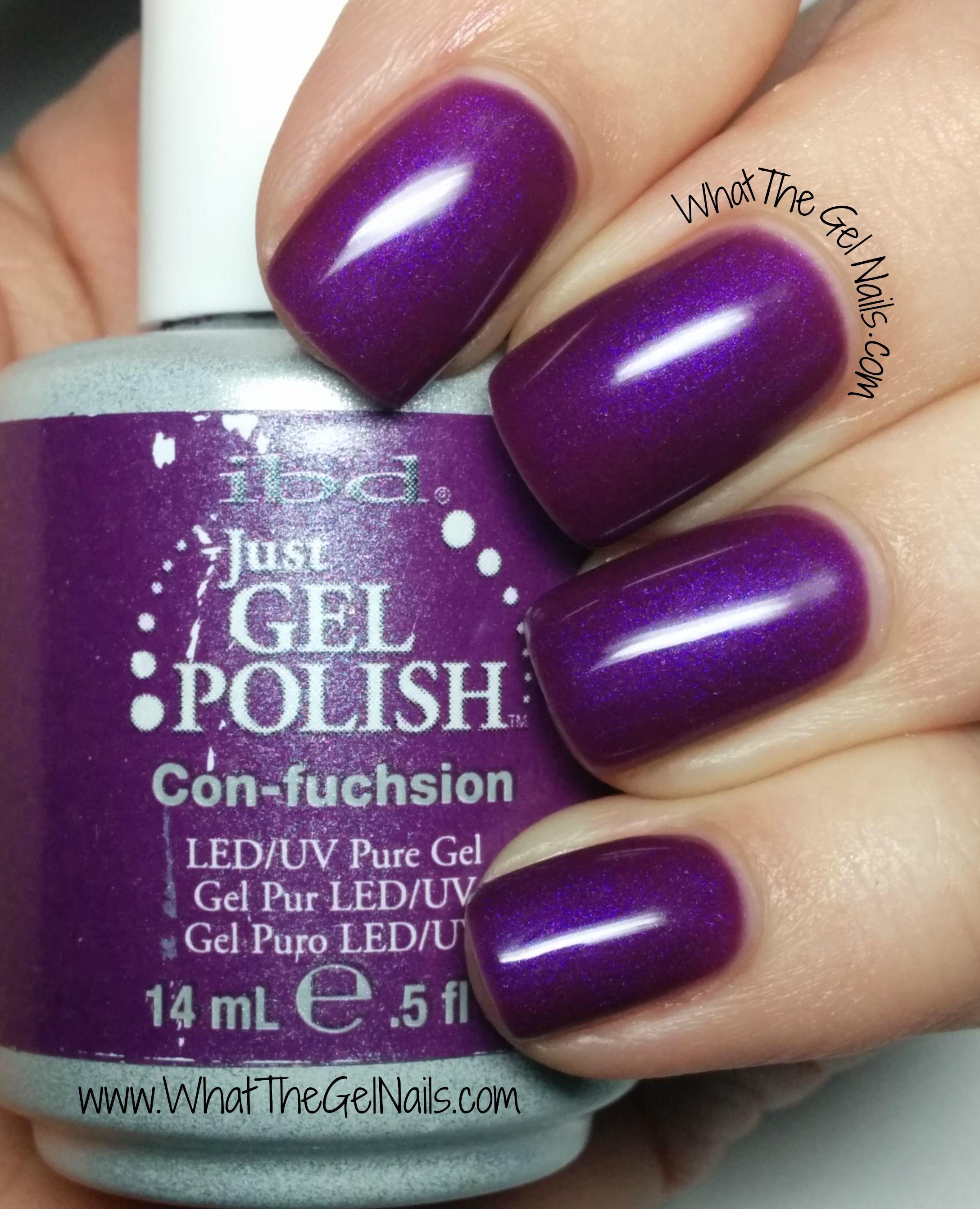 ibd con-fuchsion, plus more ibd just gel nail polish colors | ibd