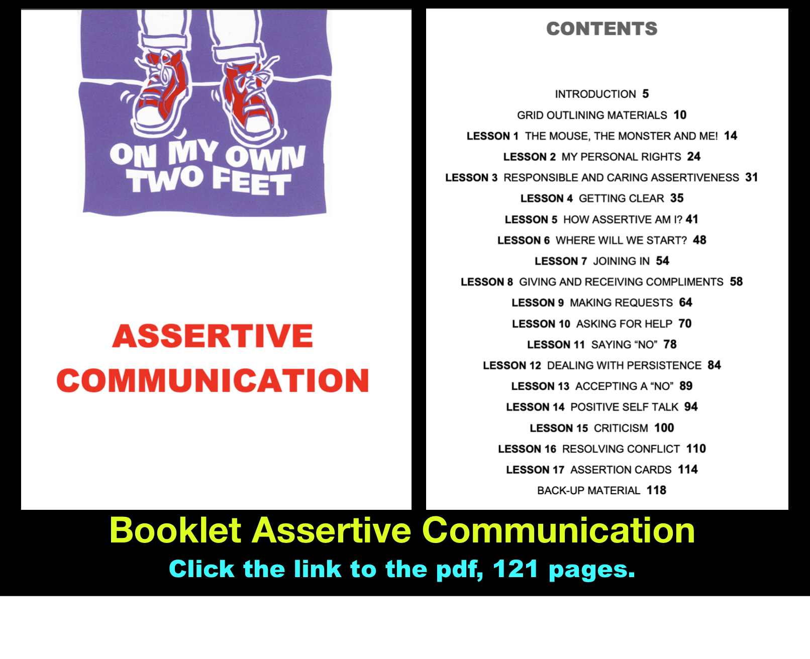 Booklet Adolescents Assertive Communication 121
