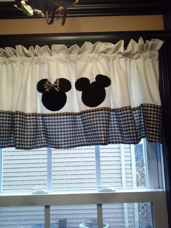 Free Shipping Until December 6th Mickey And Minnie Valance Mouse Curtains Disney Home Decor Kitchen