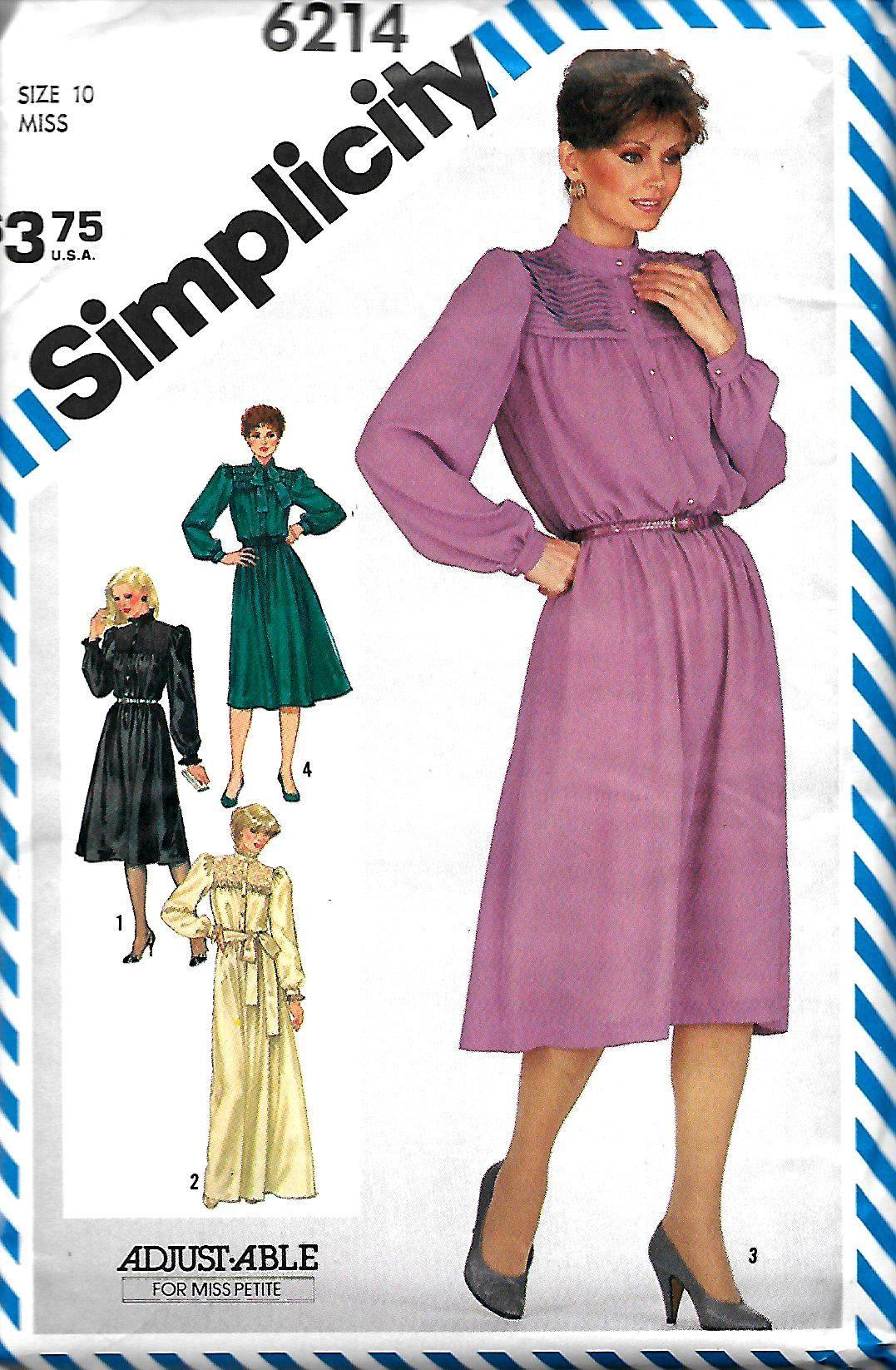 a841bc2fdb0a Simplicity 6214 Misses (Miss Petite) Dress Pattern