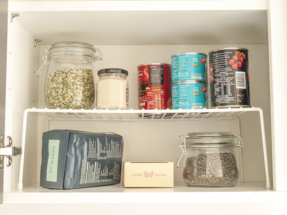 Simplywire Kitchen Cupboard Organiser Wire Storage Rack Shelf Insert Free Standing White Kitchen Cupboard Storage Kitchen Cupboards Cupboard Storage