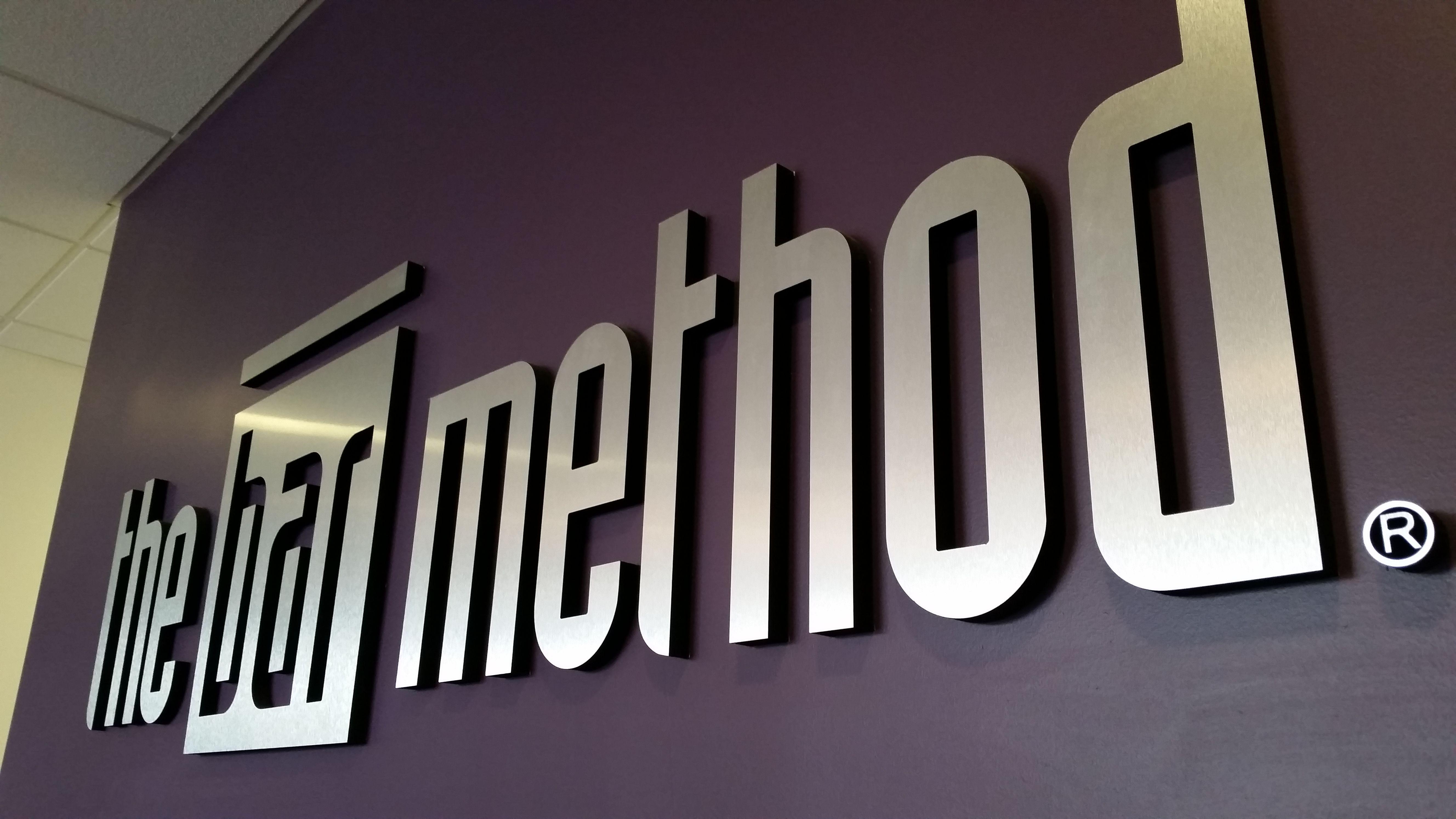 Purple wall at the Bar Method Long Beach!
