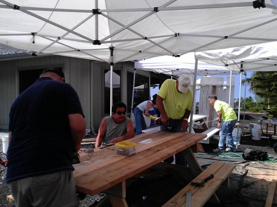 The Kona Lions Club Built Five Picnic Tables And Benches For - 12 person picnic table