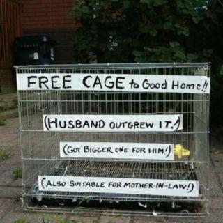 Free cage...