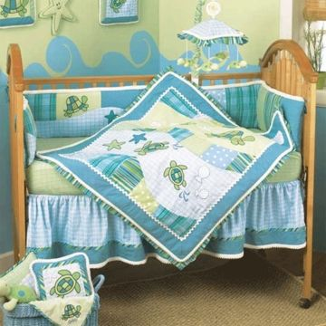 Cocalo Turtle Bay 4 Piece Crib Bedding Set Baby Crib Bedding