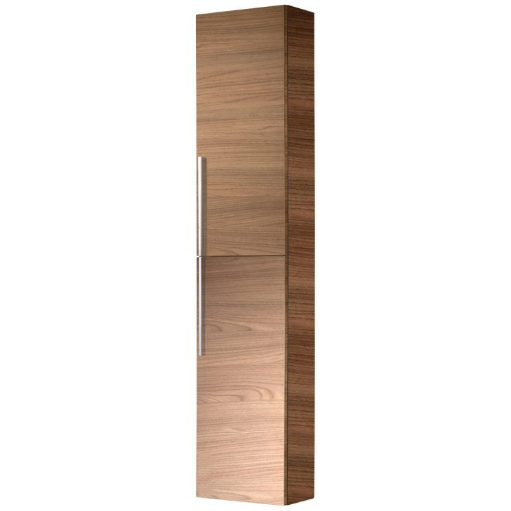 Stylish Modern Brown Wooden Cabinet With Two Full Length Doors With