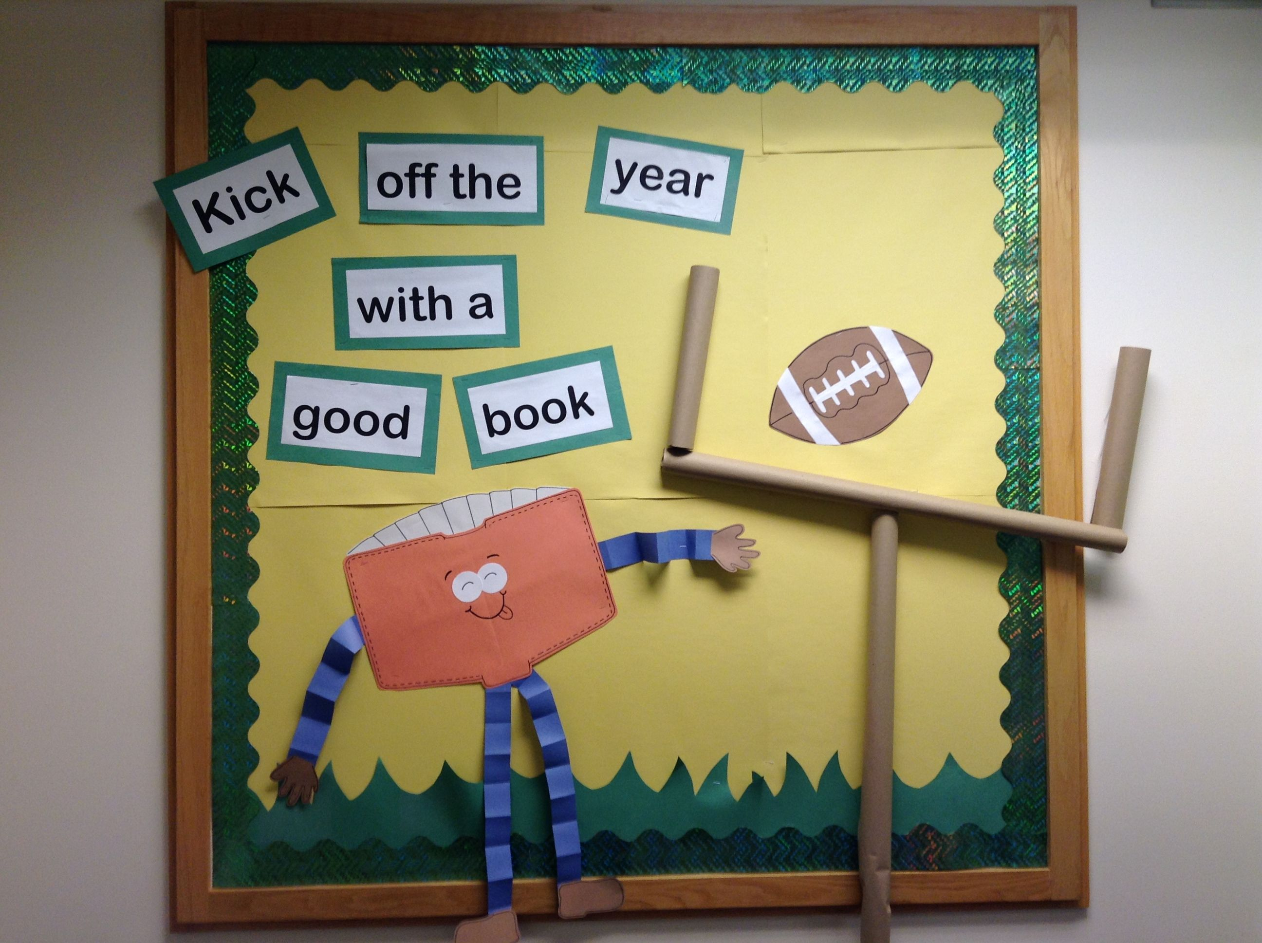 Football Themed Bulletin Board We Love Anything 3