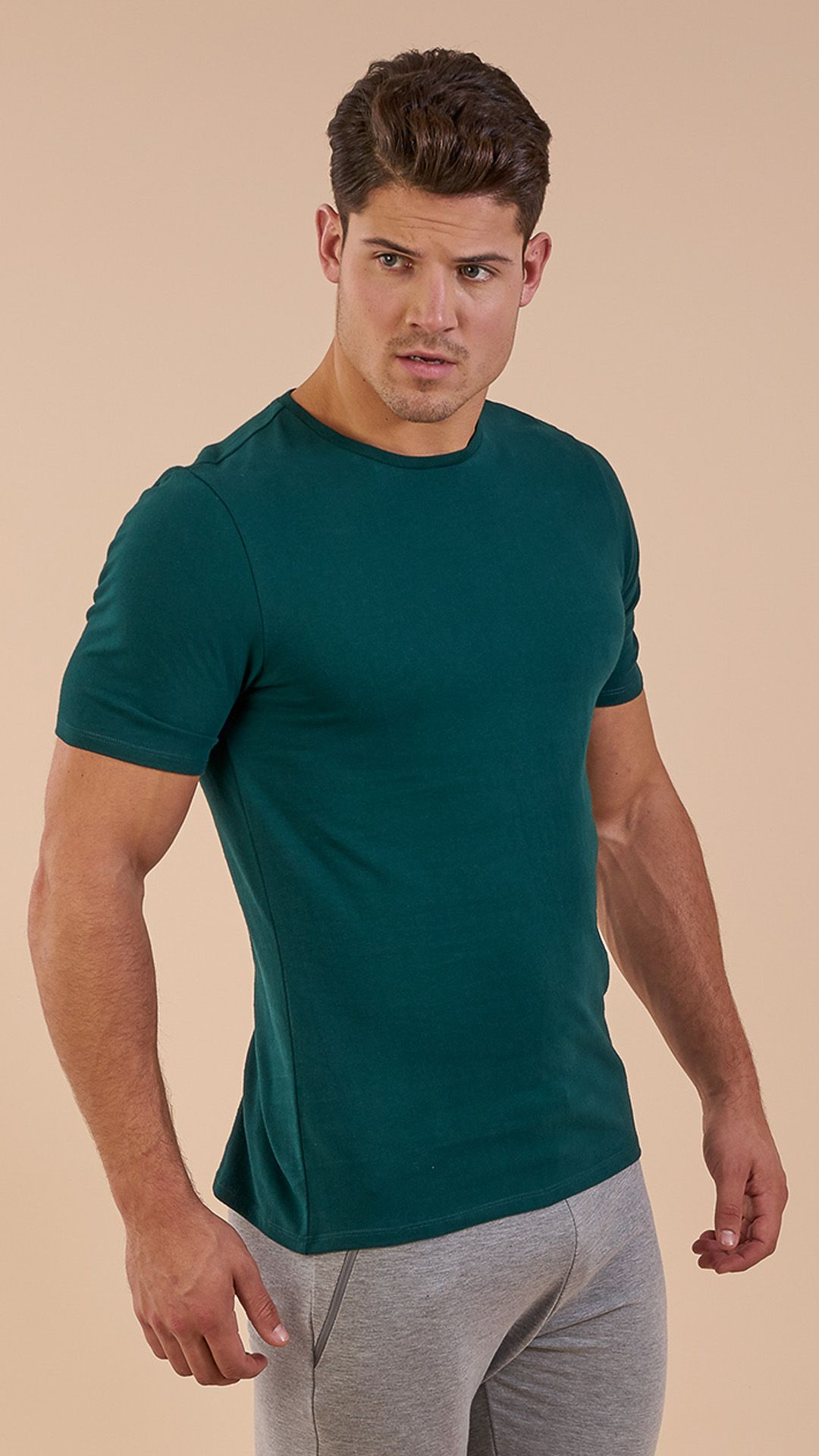 0d810c01 The Brushed Cotton T-Shirt in Forest Green is the perfect T-shirt to ...