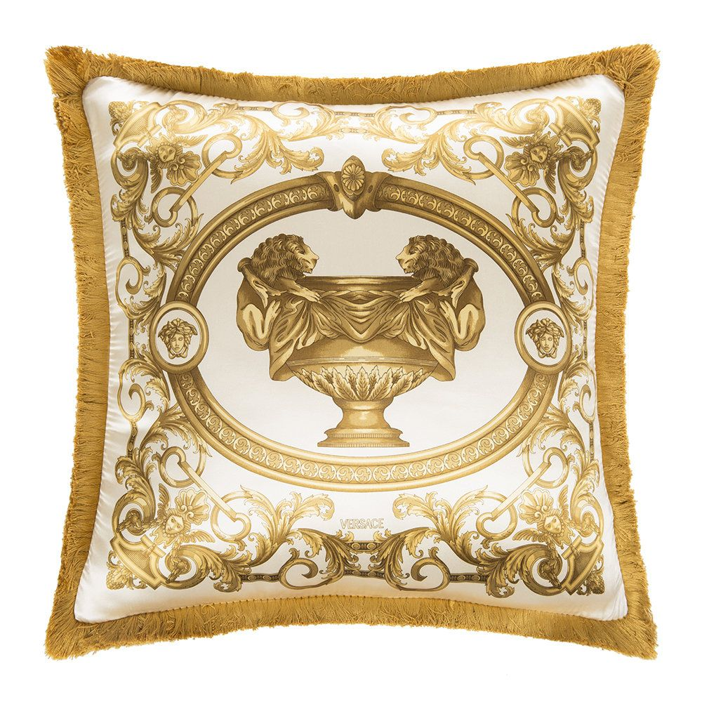 99068f2c82 Buy the Le Vase Baroque Silk Cushion - 45x45cm - Ivory/Gold from ...