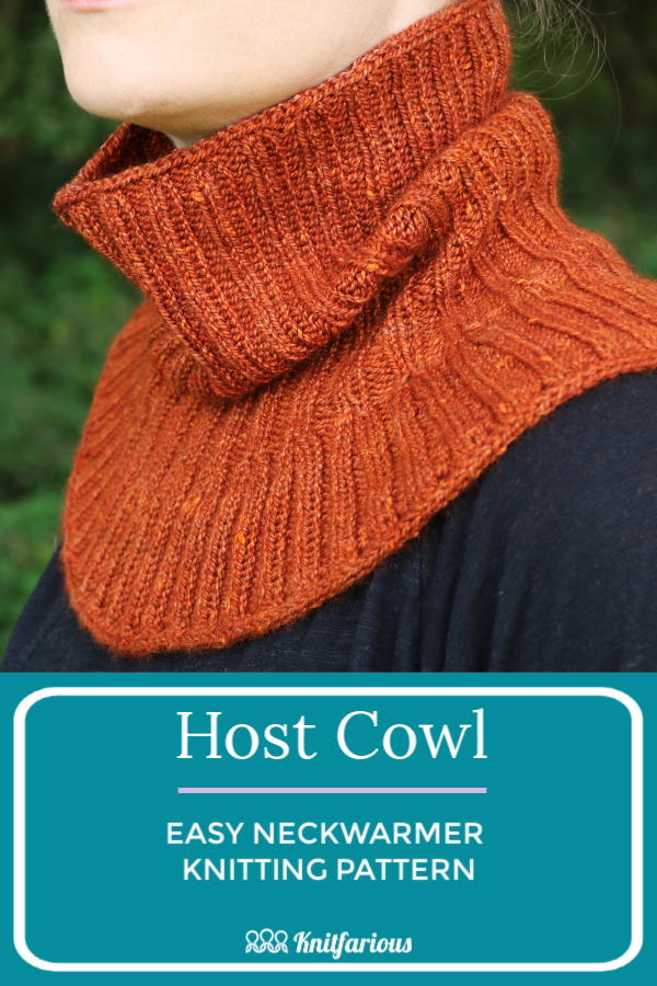Host Cowl: Easy Knitting Pattern- Knitfarious in 2020 ...
