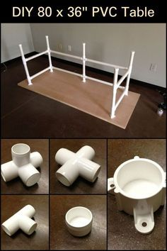 DIY 80 x 36″ PVC Table -   18 diy Muebles pvc ideas