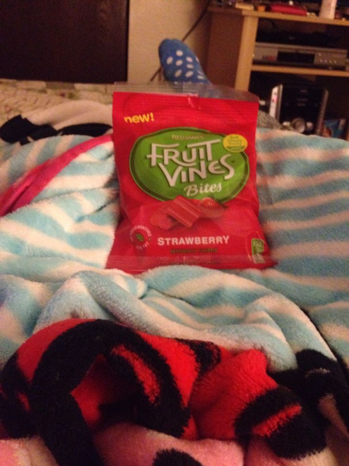 After long day..relaxing and eating my fruit vines