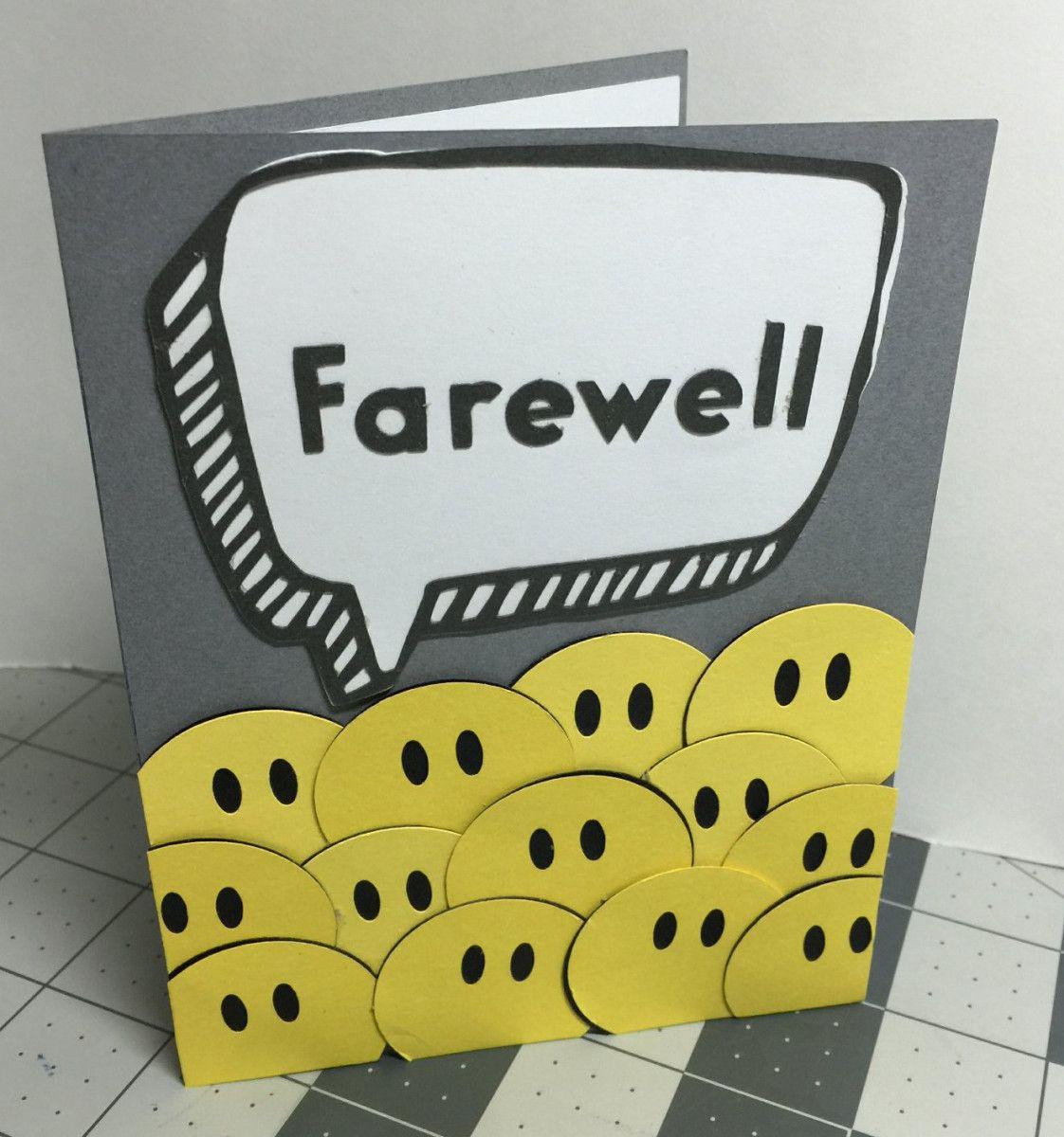 Farewell From Group Card Farewell Cards Handmade Invitation