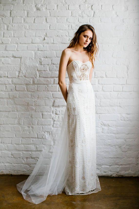 Wedding Dress Margaret Exquisite Golden French Lace Wedding
