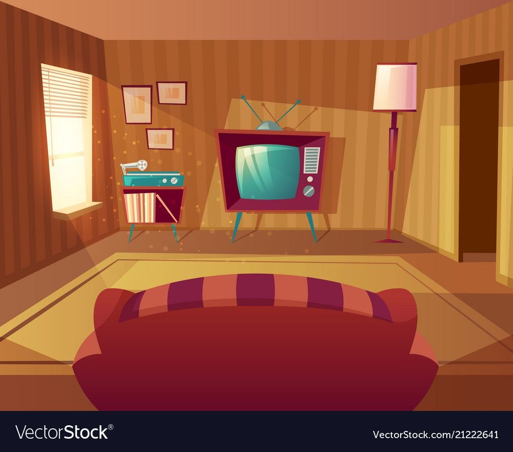Cartoon Living Room Home Theater Rooms Living Room Background Little White House
