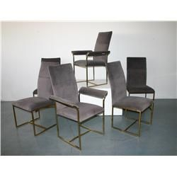 Milo Baughman dining chairs, set of 6 c. 1950