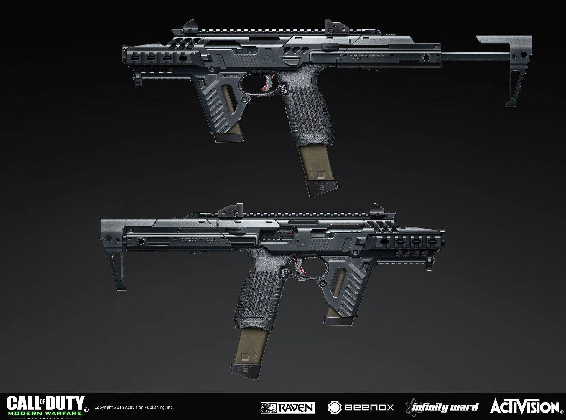 Artstation Weapon Concept For Call Of Duty Modern Warfare Remastered Pk Psd9 Rick Zeng マシンガン 銃 武器