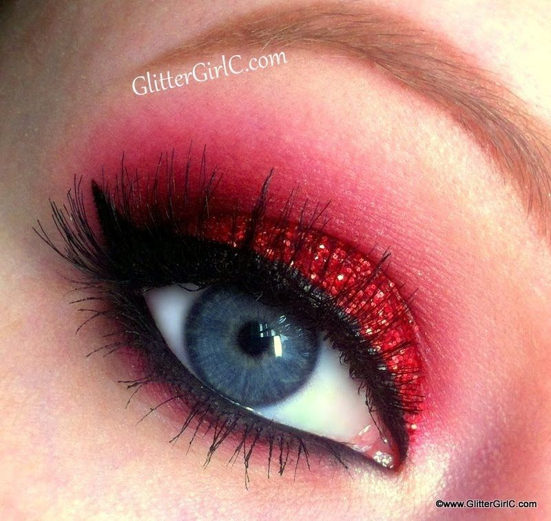 Red, Glittery Christmas Look Makeup Tutorial. Youtube
