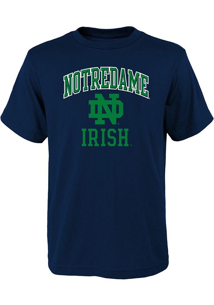 0eaf5e4f Notre Dame Fighting Irish Youth Navy Blue Ovation Short Sleeve T-Shirt, Navy  Blue