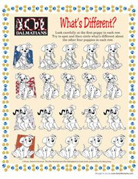 free printable dalmatian activities Disney games, Disney