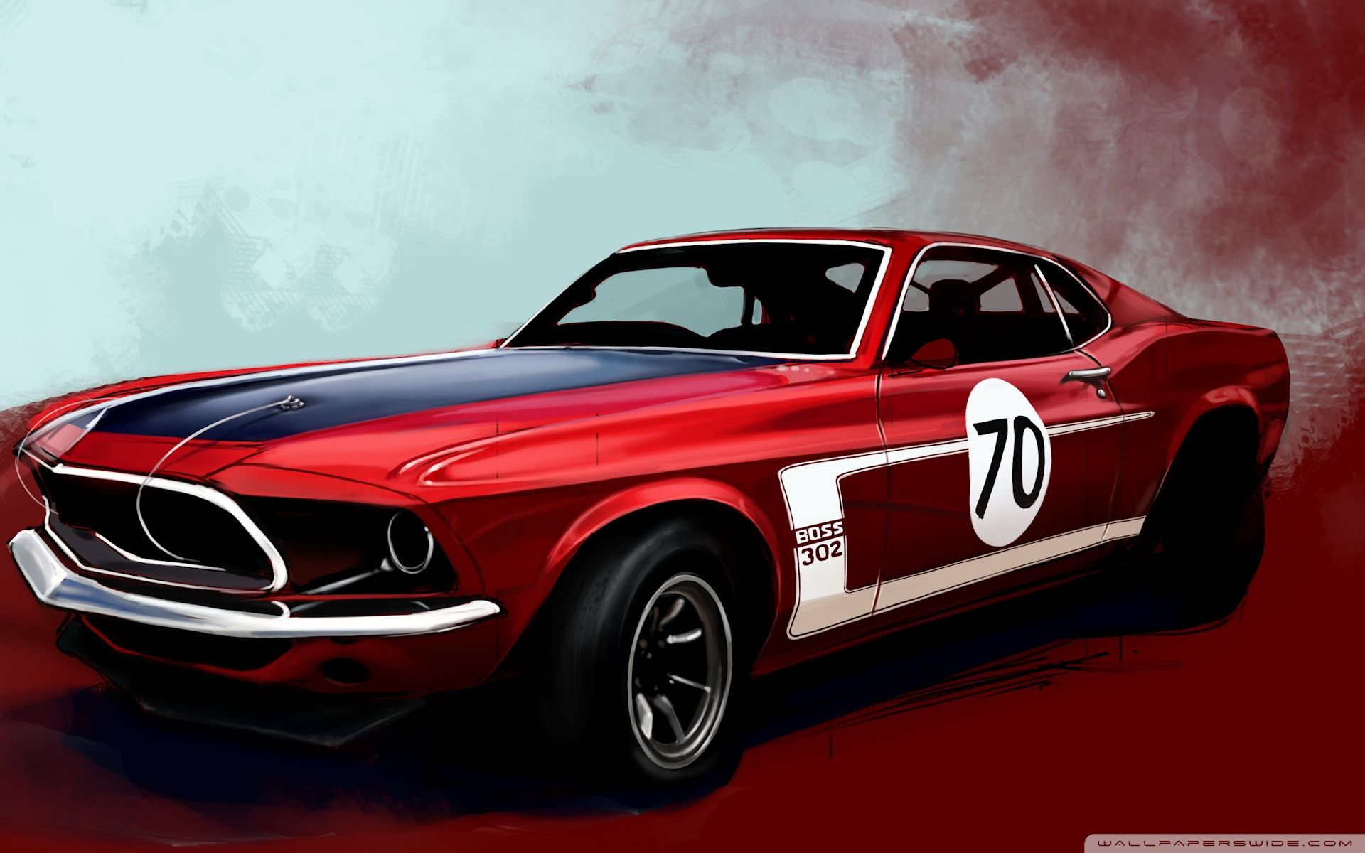 Ford Mustang Boss Classic Car Hd Desktop Wallpaper Cars