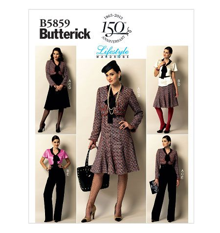 B5859, Misses\' Jacket, Blouse, Skirt and Pants | Blazer/Kostüme ...