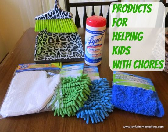 Products to help your kids help you with chores.