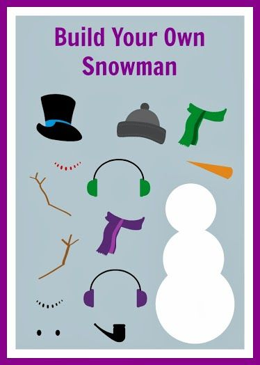 Free Build Your Own Snowman Printable | Pinterest | Snowman, Free ...