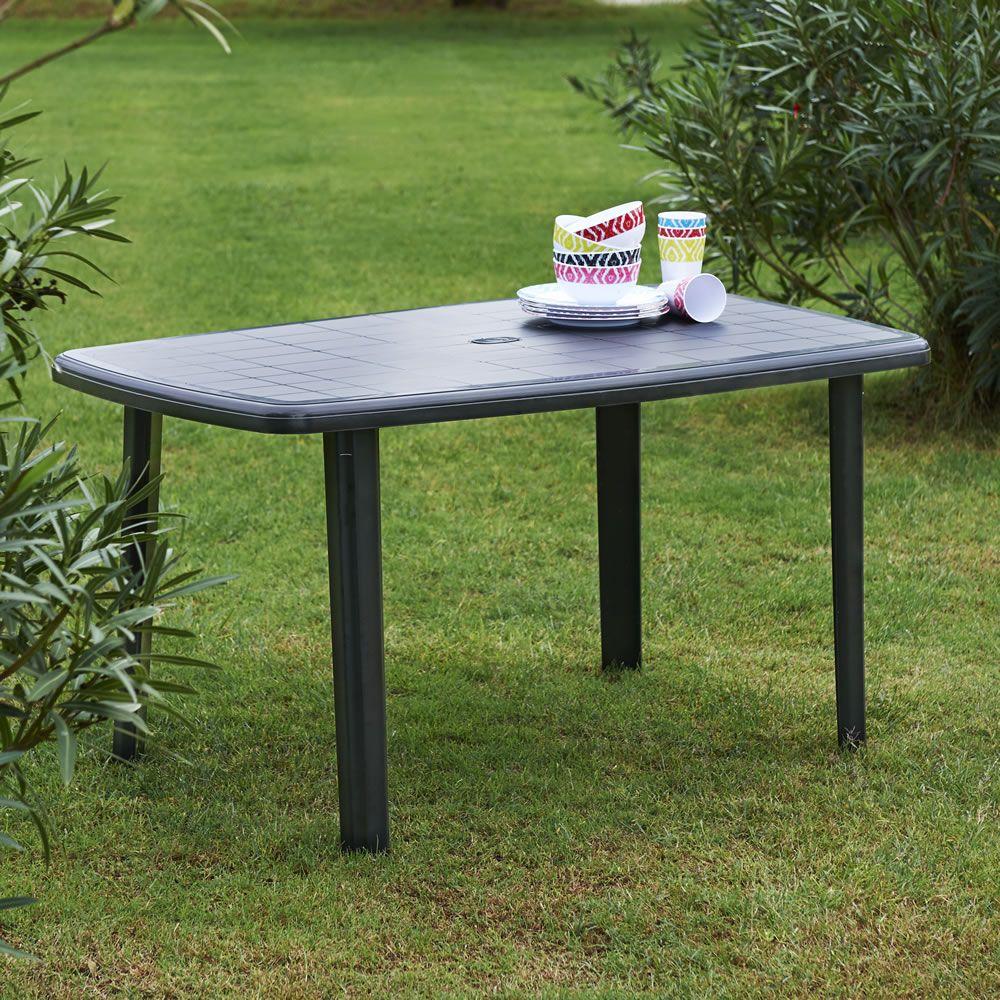 Wilko Garden Furniture Plastic Table Oval Barrel Black At Wilko