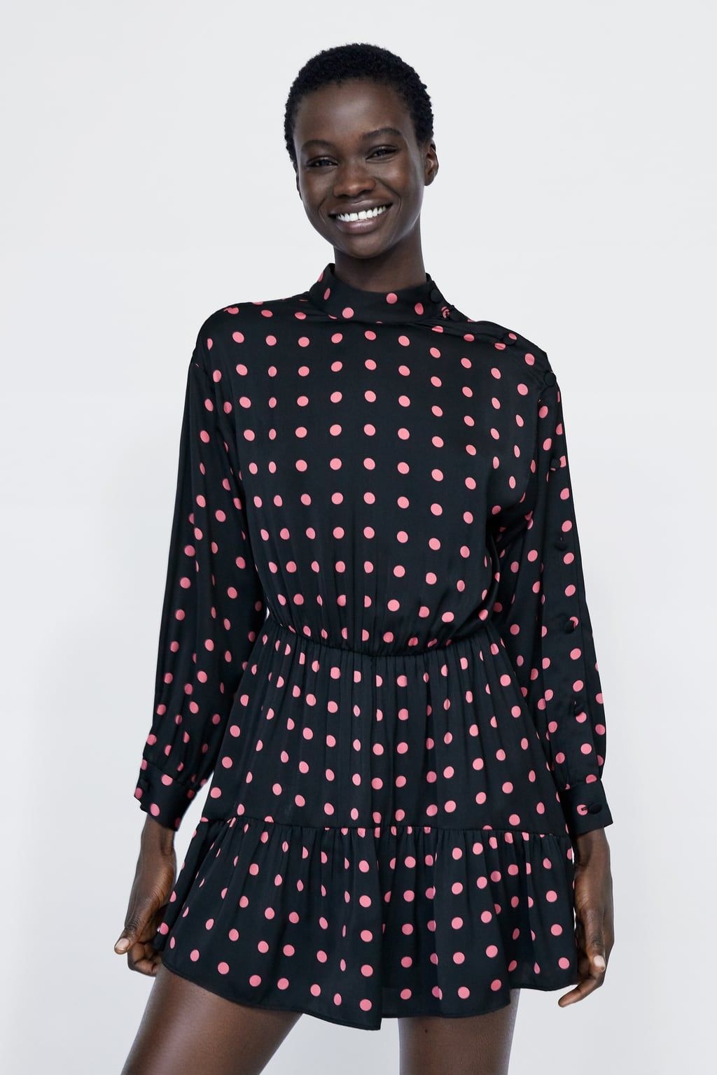 03e3dc0df17b Image 2 of POLKA DOT DRESS JUMPSUIT WITH RUFFLE from Zara