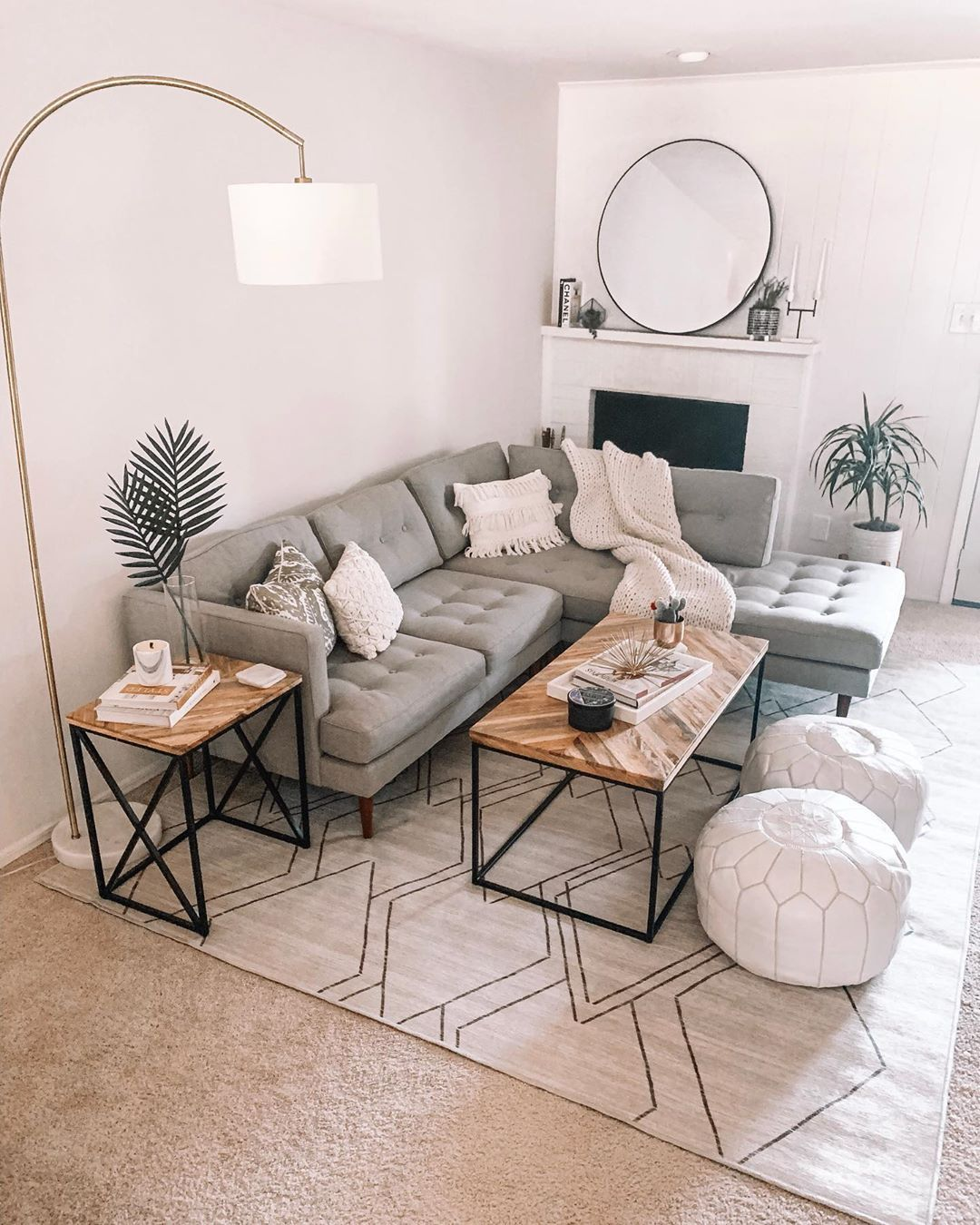 """Nickie Vu on Instagram: """"Loving our new setup in the living room 🙌🏼 What do y'all think of the new rug?! It took me so long to find the perfect pattern for our…"""""""