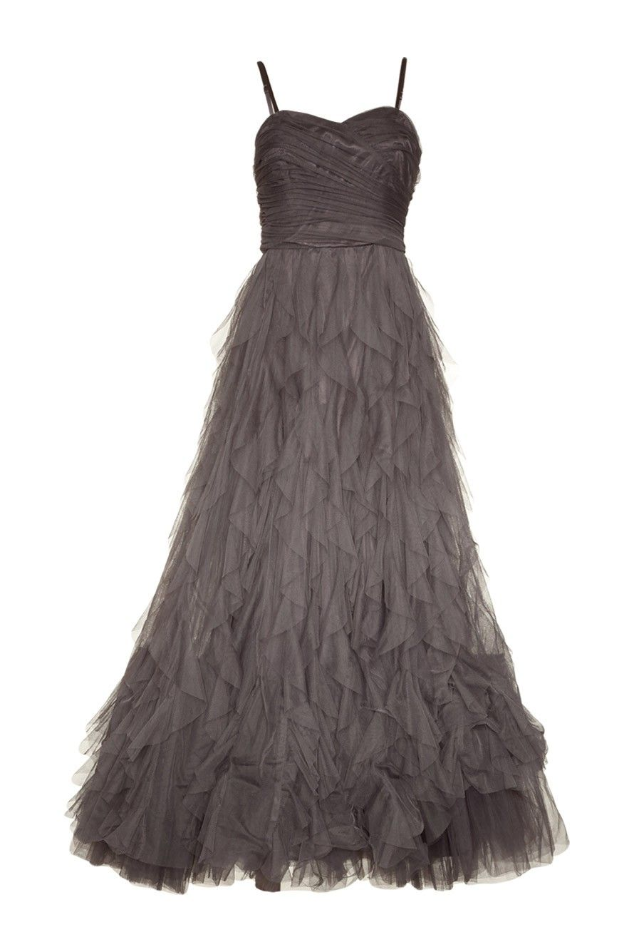 1ee6224a6a54 Robe bustier enchanteresse en tulle gris Naf Naf   Mode Dress Code ...