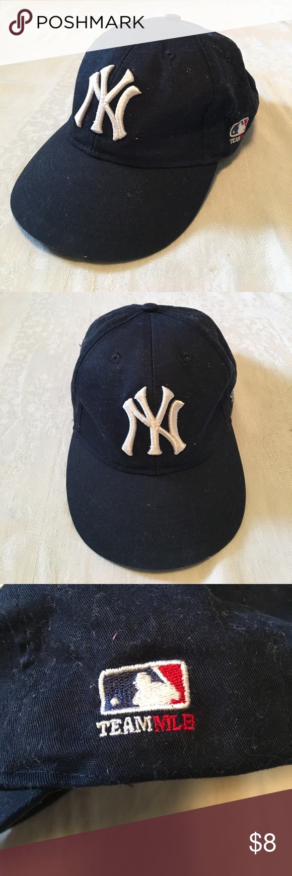 5c36bc88eebef Youth Yankee Hat Youth Yankee baseball Hat with Velcro adjustable closure.  Name written on inside