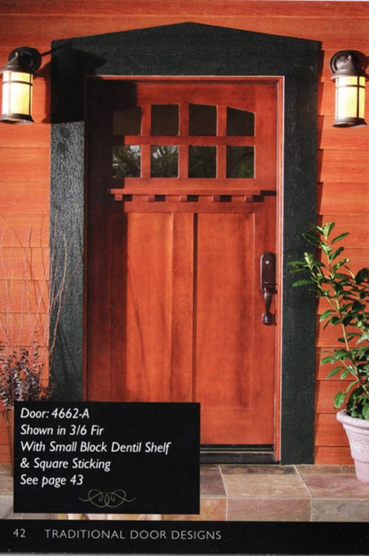 Craftsman door with a teak stain. | Ideas for Upcoming Home ...