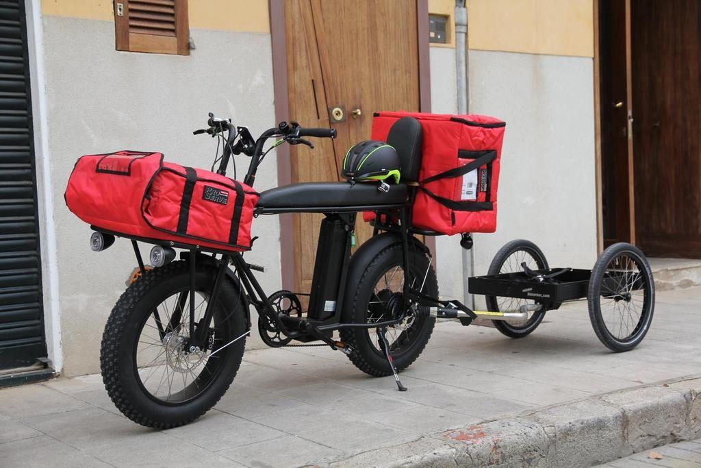 Convert Your Unimoke Urban Electric Bicycle Pedelec Into A Strong Cargo Bike With This High Quality German Made Bike Trailer Fr Cargo Bike Electric Bike Bike
