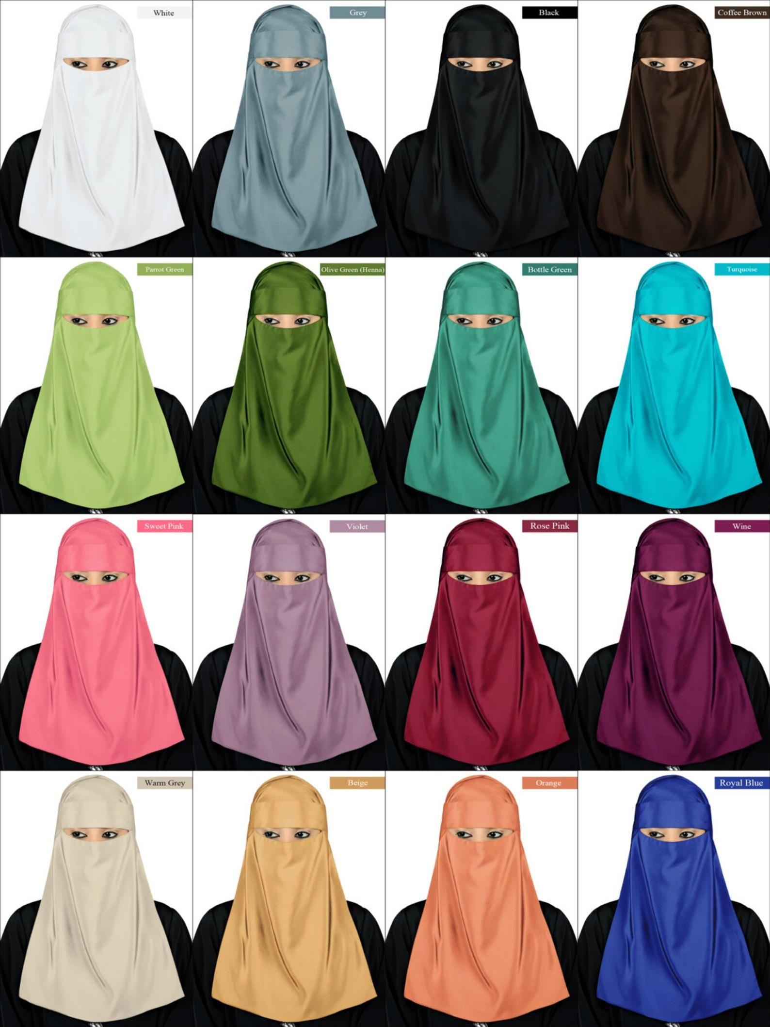 One Piece Muslim Women Wear Niqab Veil Ramadon  Arab Burka Burqa Full Hijab