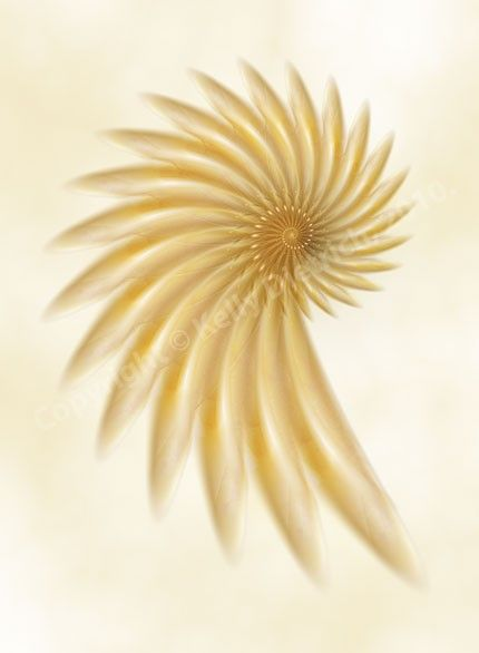 Golden Flower Art Print  Fractal Abstract Art  by kellydietrich, $25.00