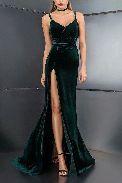 Kadife abiye modelleri 2019 - Kadın Giyim ve Moda