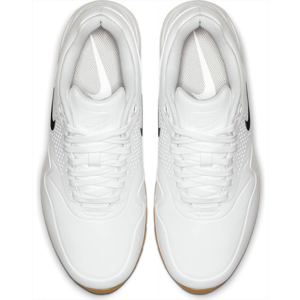 Nike Air Max 1 G Golf Shoes Contrast Swoosh White White Gum In 2020 Womens Golf Shoes White Golf Shoes Golf Shoes
