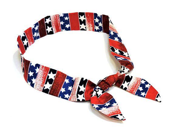 Patriotic Neck Cooler Stars N Stripes Cooling Scarf Red Clothing Neck Coolers Cooling Scarf Cool Ties