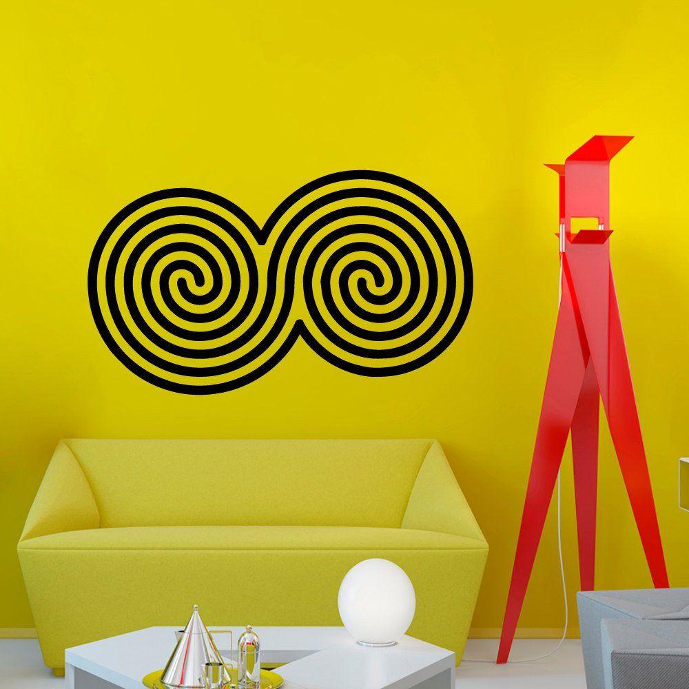 Wall Decals Vinyl Sticker Spirals Mandala Decal Ornament Indian ...