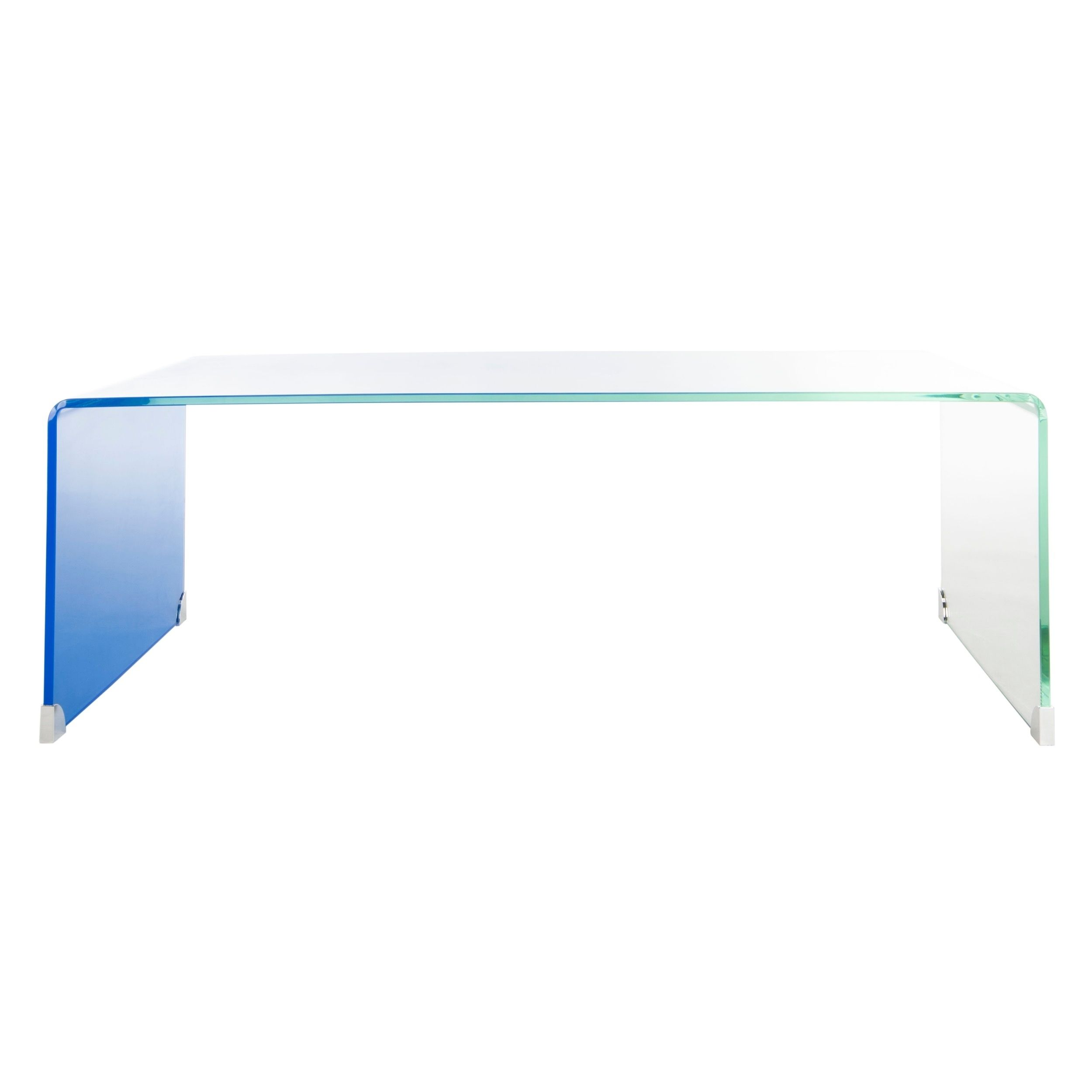 Safavieh Crysta Ombre Glass Coffee Table Clear Blue 47 2 X 25 6 X 16 5 Glass Coffee Table Rectangle Glass Coffee Table Rectangular Coffee Table [ 2500 x 2500 Pixel ]