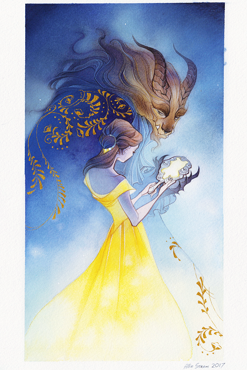 Disney Art Beauty And The Beast By Alison Strom