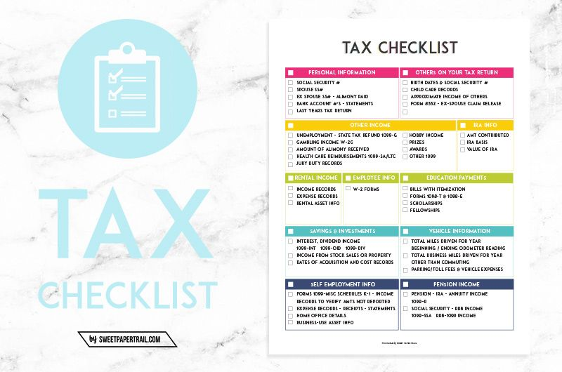 Self Employed Taxes  How To Get Organized  Tax Preparation And