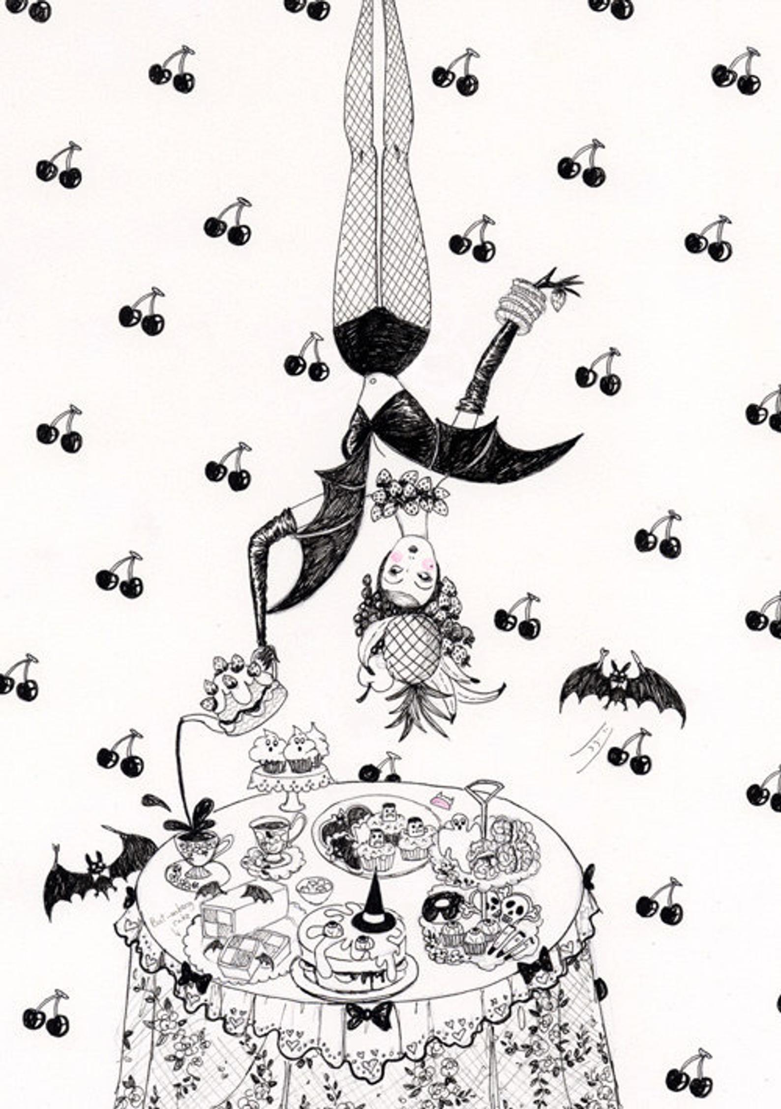 Fruit bat greeting card